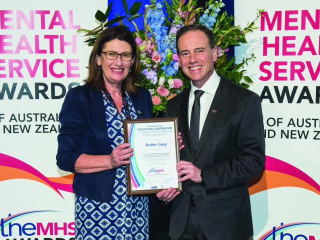 Heather Casey and the Hon Greg Hunt MP