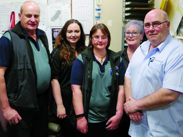 From left: Blair Mcintyre (Orderly supervisor), Christie Underwood, Emma Cronin, Glenda Waugh,...