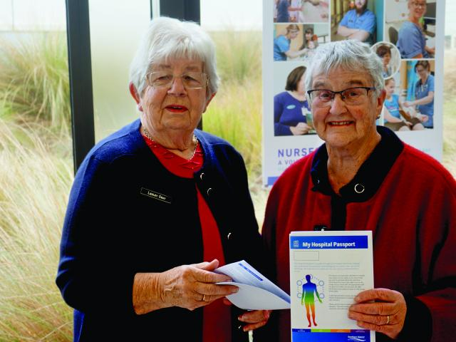 Advisors Lesley Grey and Patsy Gordon who helped co-design the Hospital Passport