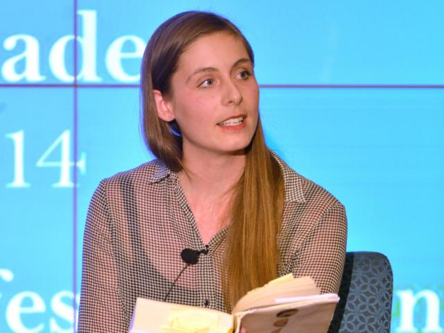 Eleanor Catton reads more than just the first sentence of her Man Booker prize-winning The...