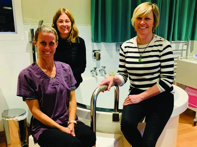 Central Otago Maternity Unit Midwives Katy Christian, Avril Robinson and Jo Guest.