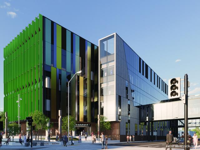 An artist's impression of the exterior of the new Dunedin Hospital outpatient building. IMAGE:...