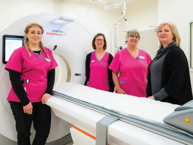 From left: Lakes District Hospital Medical Imaging Technologists Viv Cournane, Chloe Bramley and...