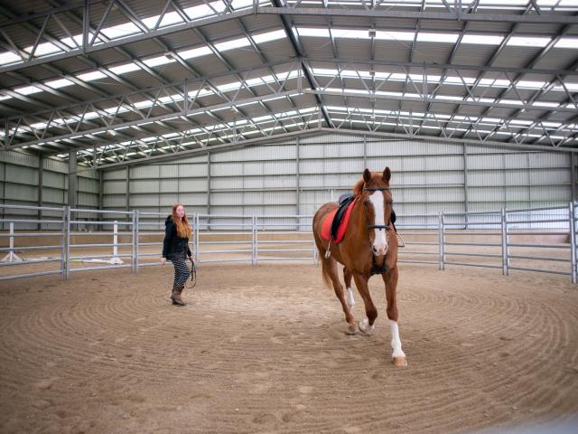 The Telford campus includes a state-of-the-art equestrian centre.