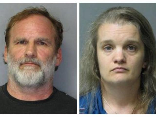 Dr. Melvin Morse, 58, and his estranged wife Pauline Morse are seen in this combination of police booking photos .   REUTERS/Delaware State Police/