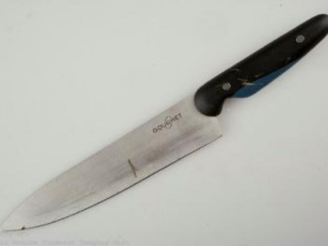 The knife found by police in Mornington Park