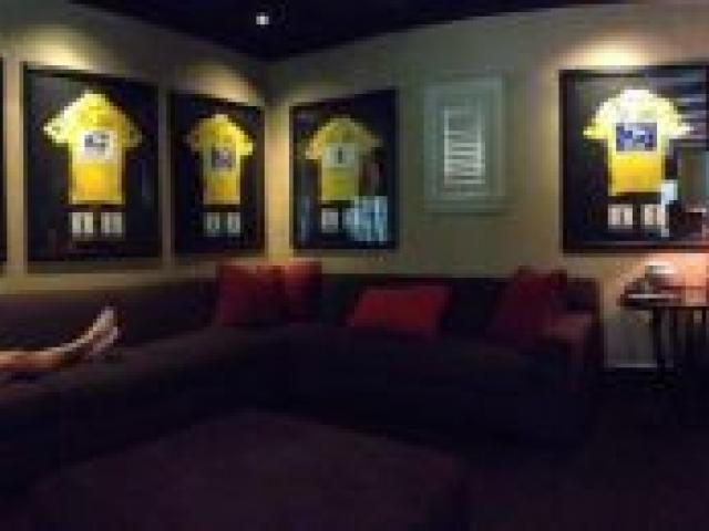 Lance Armstrong tweeted this photo showing his seven Tour de France winner's jerseys yesterday.
