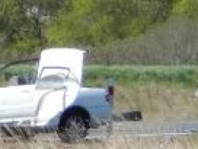 The two cars involved in a fatal car crash near Allanton early on Saturday morning.