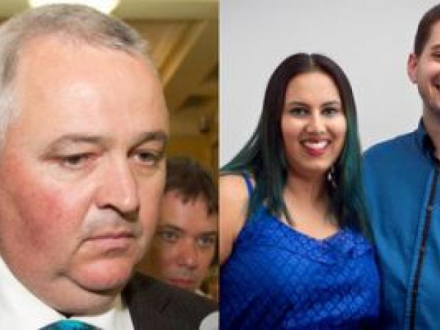 MP Richard Prosser, Khayreyah Wahaab and her husband Jason (Naveed) Kennedy. Photos / Mark Mitchell, Natalie Slade