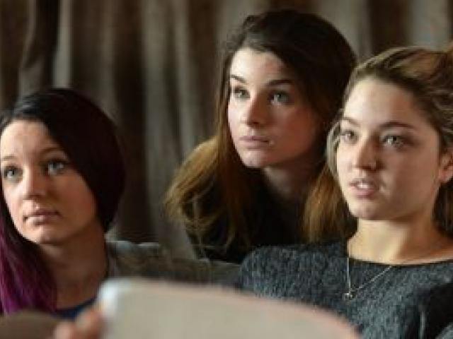 Makayla Spiers, Annalise Cooper and Tae Flavell have been subjected to online abuse. Photo: Stephen Jaquiery