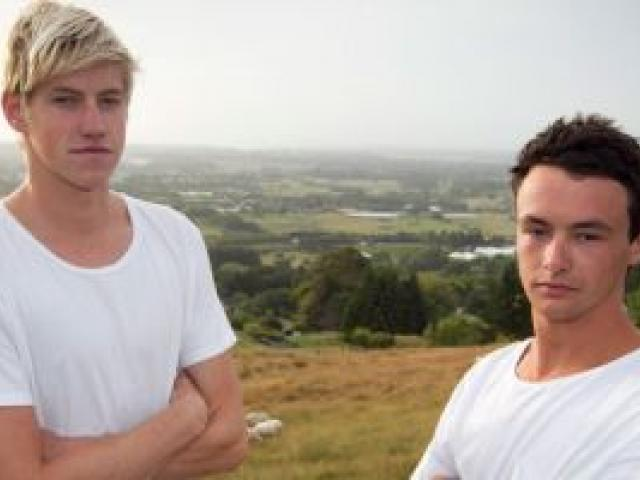 Witnesses and friends Daniel Hunter (left) and Adam Reid. Photo: NZ Herald
