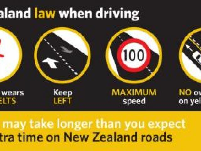 20,000 steering wheel tags - detailing road rules such as keep left, safe speeds, safe overtaking, wearing seatbelts and driver fatigue - will today be distributed to vehicle rental companies in Queenstown. Photo supplied.