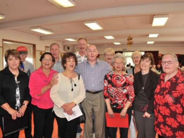 The Dunedin Operatic Carol Singers (from left) Mhairi Saunders, Eddie Frazer, Toni Wilson, Brent Bishop, Toula Theropoulas, Paul Taylor, Charles Campbell, Maggie Maclean, Denise Cameron, Lois Coory, Jan Burgess and Maureen Williamson perform at the New Ze