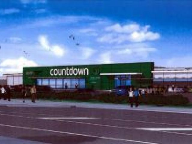 An artist's impression of the proposed new Countdown supermarket  to be built in Gordon Rd, Mosgiel, for Progressive Enterprises Ltd. Image supplied.