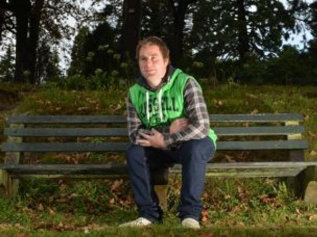 Dunedin man Blair Marsh, who is raising funds to install a park bench in the Dunedin Botanic Garden, to remember his late friend who died there. Photo by Peter McIntosh.