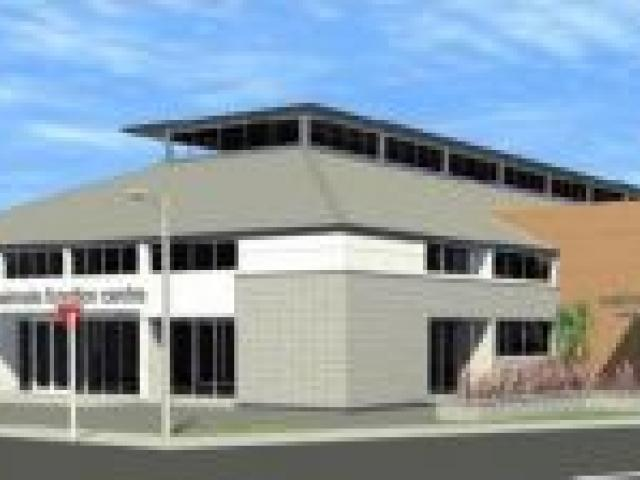A concept of the redeveloped stadium by architect Forgie Hollows and Associates. Image by Waimate District Council.