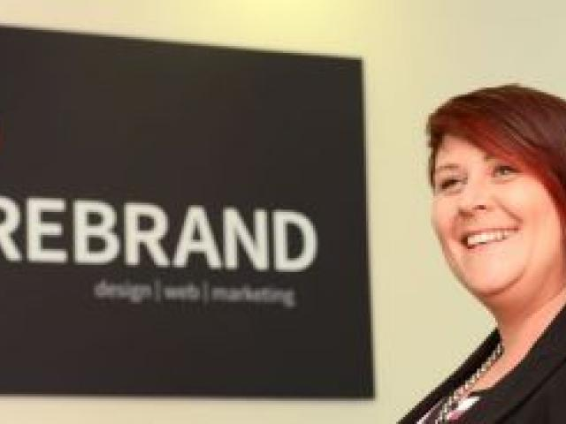Firebrand managing director Rebecca Twemlow at the company's premises in Bracken Court, Moray Pl. Photo by Peter McIntosh.