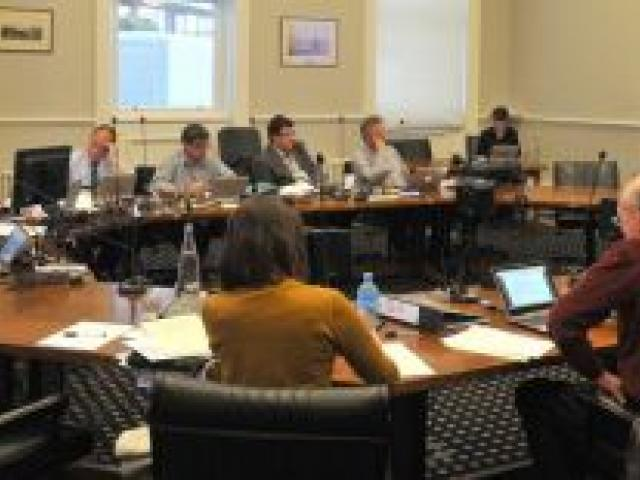Alcohol submissions in the Municipal Chambers on Tuesday afternoon. Photo by Gregor Richardson.