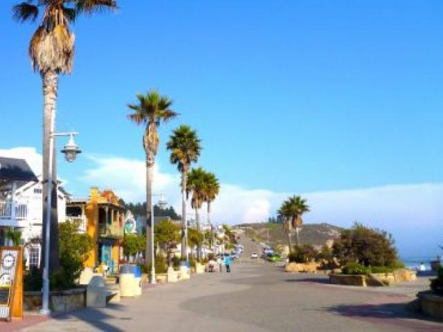 California sunshine greets visitors to Avila beach  in the San Luis Obispo region. Photo by visitsanluisobispocounty.com
