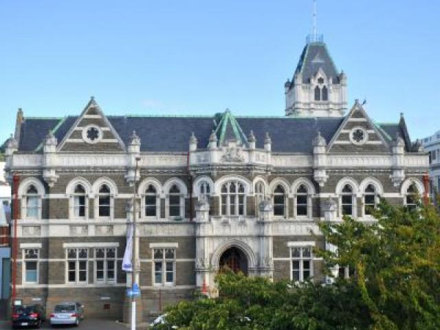 The soon-to-be-closed  Law Courts in Stuart St, Dunedin. Photo by ODT.