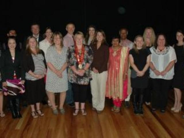 The new New Zealanders are (back row, from left) Lindsey Schofield, of the United Kingdom; Nafees Ahmad,  India; Michael  Shattock, Samantha Relph and Gregory Dorn, all  UK;  Hannah Scott,  Sweden; Karunakaran Kuppusamy,  Malaysia; Catherine Rodgers and L