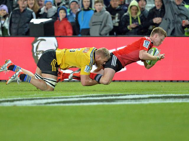 Mitchell Drummond will captain the Crusaders second half team on Saturday. Photo: Getty Images