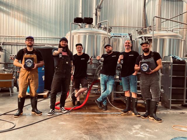 The Boneface brew team from Upper Hutt.