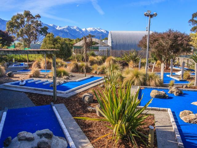 Beer, minigolf, and the stunning Kaikoura scenery - what's not to like about Emporium Brewing?