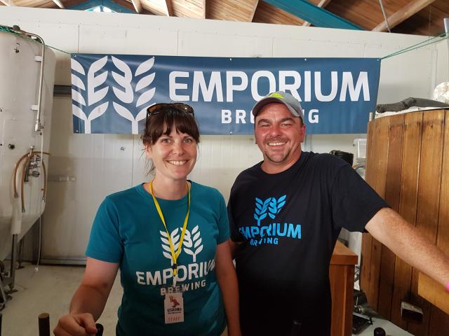 Laura and Paul Finney from Kaikoura's Emporium Brewing.