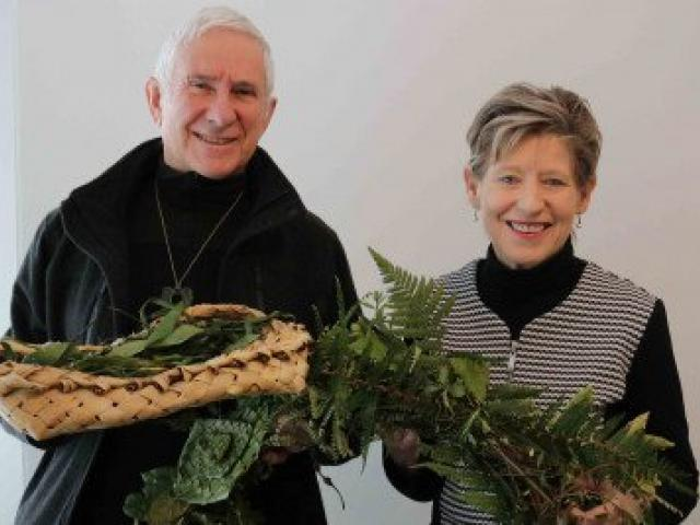 Reverend Peter Beck and Mayor Lianne Dalziel at the ceremony. Photo: Newsline / CCC