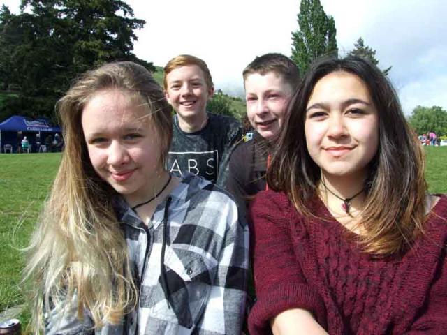 Aspen Holt (14), Max Duncan (14), Brayden Gardyne (13) and Aaliyah Wilso (14), all of Queenstown.