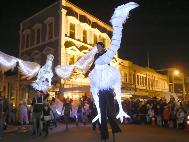 Lanterns, puppets and people took to the Octagon on Saturday evening for the Dunedin Midwinter Carnival. Otago Daily Times photographer Gregor Richardson was on hand. Photos: Gregor Richardson