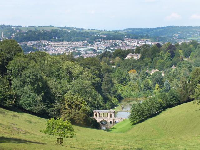"Ralph Allen's Prior Park looks out over the ""white glare"" of Bath's buildings. Photos: Gillian Vine"