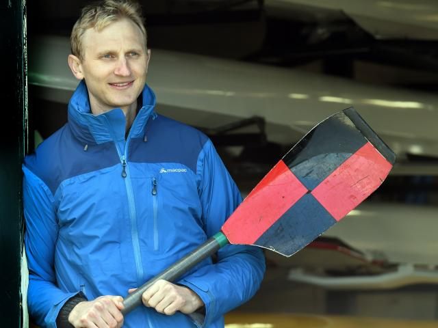 Double Olympic champion Hamish Bond at the North End Rowing Club's 125th anniversary celebrations on Saturday. Photos: Peter McIntosh