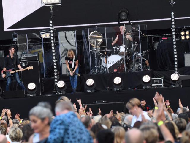The Pretenders perform at Forsyth Barr Stadium in Dunedin. Photo: Stephen Jaquiery