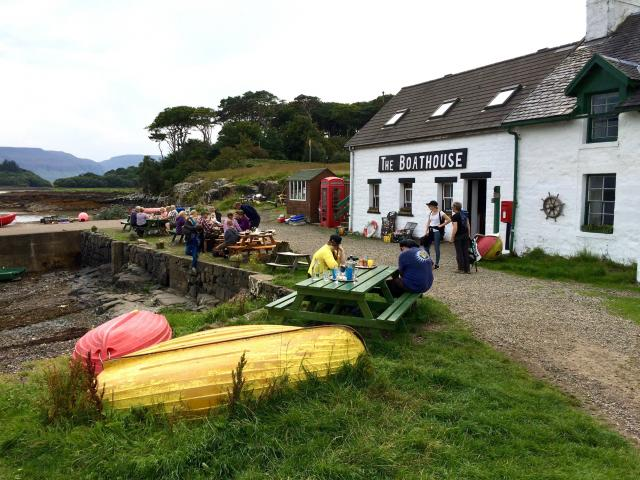 The Boathouse at Ulva's harbour.
