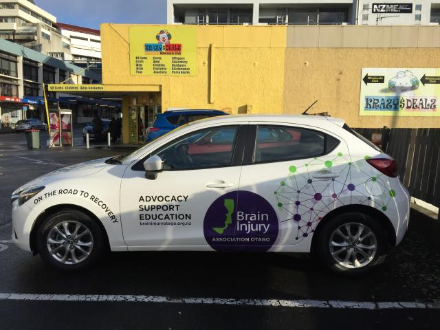 Broad coverage . . . A new, sign written vehicle makes covering the Otago area easier for Brain...
