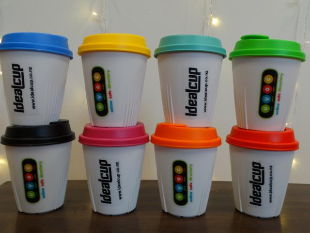 The reusable drinks cups on offer from the Use Your Own Cups project.