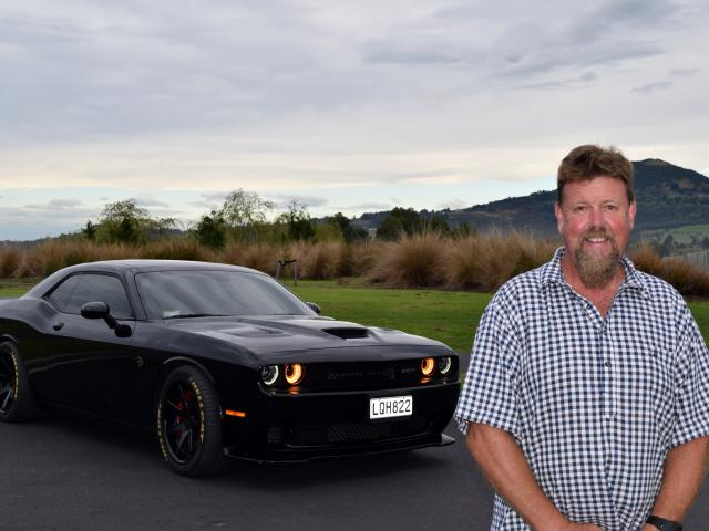 Exhilarating . . . Paul Barron and his 2017 Dodge Challenger Hellcat. PHOTOS: THE STAR