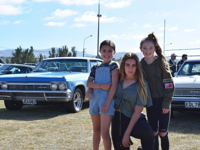 Fun day out . . . Posing in front of a 1965 Chevrolet Caprice during last year's 31st Great USA...