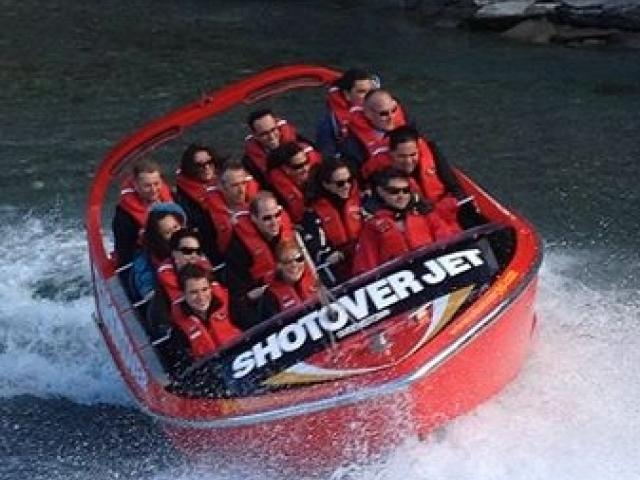 The royal couple on their Shotover Jet   thrill-ride. Photo NZ Governor General