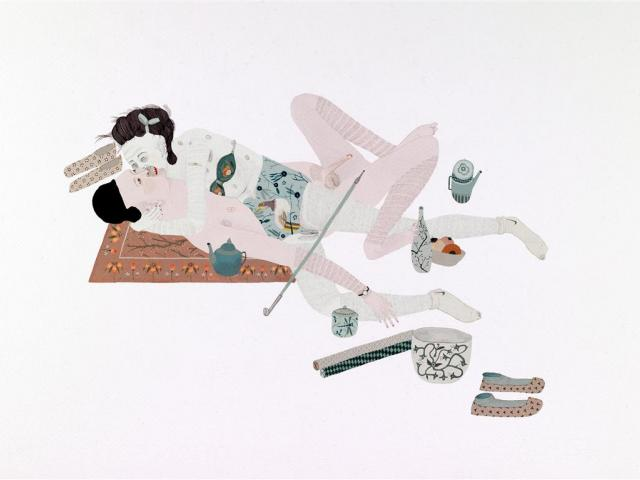 ''Female hungry ghost with dragonfly jar'', 2009, Gouache and Pencil on Paper, 350mm x 500mm....
