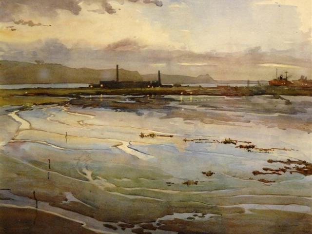 'Lake Logan', by Alfred Herbert Cook, 1924.