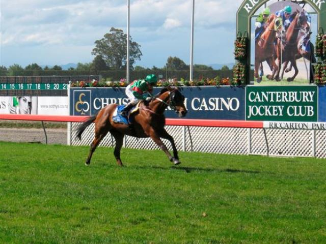 Blood Brotha (Lisa Allpress) wins the New Zealand Cup at Riccarton by six and a-half lengths on...