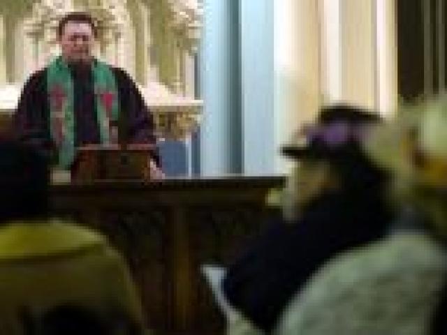 Rev Tokerau Joseph during a service at First church. Photo by Craig Baxter.