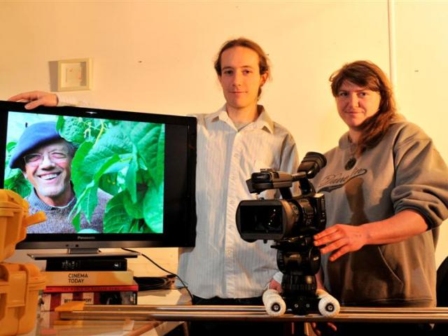 Dunedin film-makers Max Bellamy and Rachael Patching in their Dunedin premises. Photo by Linda...