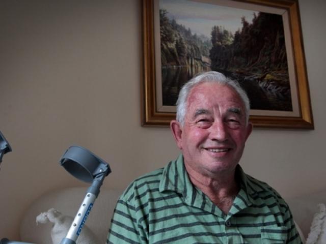 John Reeve survived a 40m fall. Photo / Doug Sherring