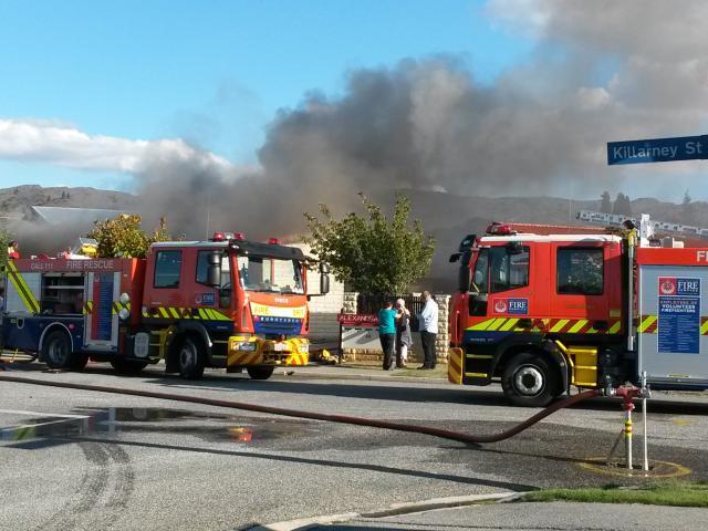 Killarney St house fire. Photo by Leith Huffadine
