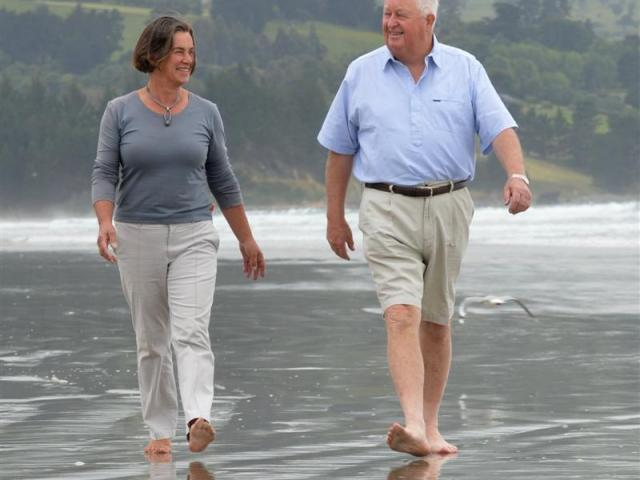 Sir Julian Smith and Beverley, Lady Smith, walk on Warrington Beach this week. Sir Julian is one...
