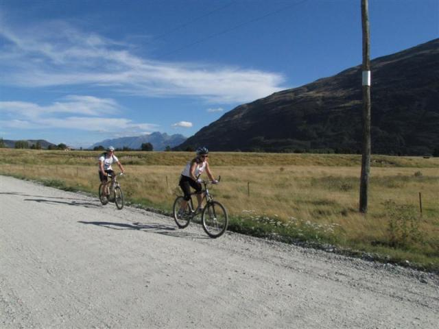 Some of the teams found the 20km bike ride hard going after the tough hill climb to the summit of...